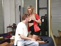 Naughty Tanya Tate get her massive melons out