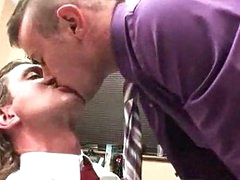 Gay dick sucking in office