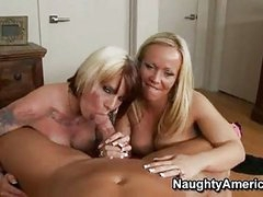 Sex Bombshell Austin Taylor Shares A Throbbing Cock With Her Tatalsoed Girlally