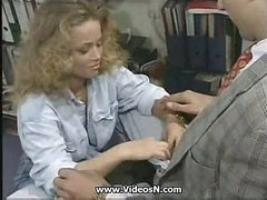 Lydia Satisfying Her Boss in the Office