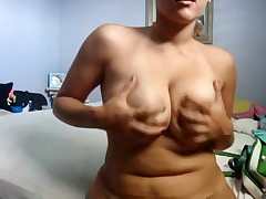 Homemade strip video of my chubby GF