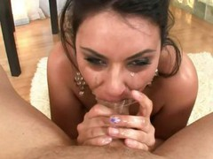 Sexy unfathomable throat session