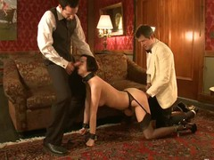 Hot sexy babe's sexy helpers fucked