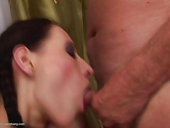 young woman loves old cocks