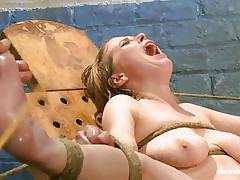tormenting her wet pussy