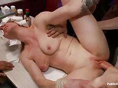 beretta james and her friend get drilled in a diner