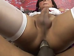 Attractive sex-obsessed ladyboy suck and fucks like hell