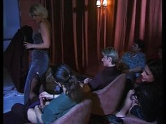 mature and younger girl gangbanged in porn cinema