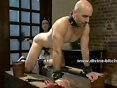 Beautifull maid teaches her supposed boss the ways of bondage femdom sex humiliating him