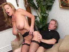 Bent over nun fucked in her hot hole
